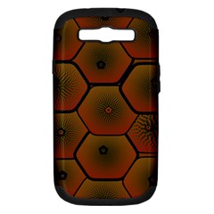 Psychedelic Pattern Samsung Galaxy S Iii Hardshell Case (pc+silicone)