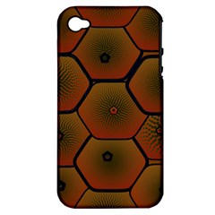 Psychedelic Pattern Apple Iphone 4/4s Hardshell Case (pc+silicone)