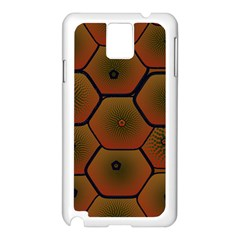 Psychedelic Pattern Samsung Galaxy Note 3 N9005 Case (white)