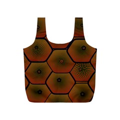 Psychedelic Pattern Full Print Recycle Bags (s)