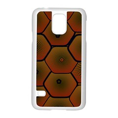 Psychedelic Pattern Samsung Galaxy S5 Case (White)