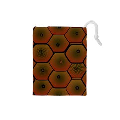 Psychedelic Pattern Drawstring Pouches (small)