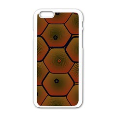 Psychedelic Pattern Apple iPhone 6/6S White Enamel Case
