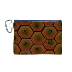 Psychedelic Pattern Canvas Cosmetic Bag (m)