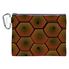 Psychedelic Pattern Canvas Cosmetic Bag (xxl)