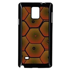 Psychedelic Pattern Samsung Galaxy Note 4 Case (Black)