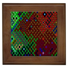 Psychedelic Abstract Swirl Framed Tiles