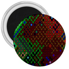 Psychedelic Abstract Swirl 3  Magnets