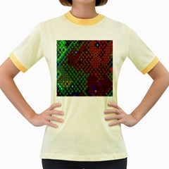 Psychedelic Abstract Swirl Women s Fitted Ringer T Shirts