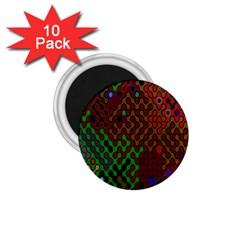 Psychedelic Abstract Swirl 1.75  Magnets (10 pack)