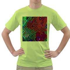 Psychedelic Abstract Swirl Green T Shirt