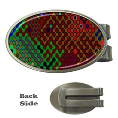 Psychedelic Abstract Swirl Money Clips (Oval)