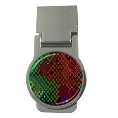 Psychedelic Abstract Swirl Money Clips (round)