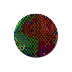 Psychedelic Abstract Swirl Magnet 3  (Round)