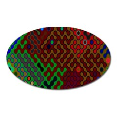 Psychedelic Abstract Swirl Oval Magnet
