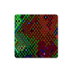 Psychedelic Abstract Swirl Square Magnet