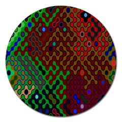 Psychedelic Abstract Swirl Magnet 5  (Round)