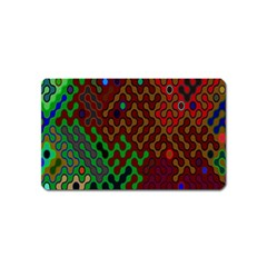 Psychedelic Abstract Swirl Magnet (name Card)