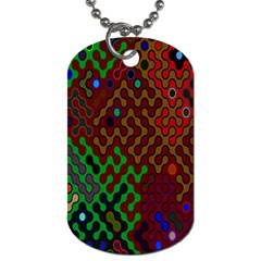 Psychedelic Abstract Swirl Dog Tag (one Side)