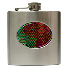 Psychedelic Abstract Swirl Hip Flask (6 Oz)