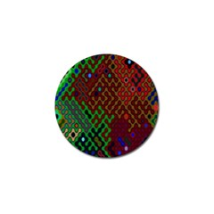 Psychedelic Abstract Swirl Golf Ball Marker (4 pack)