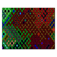 Psychedelic Abstract Swirl Rectangular Jigsaw Puzzl