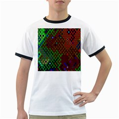 Psychedelic Abstract Swirl Ringer T-Shirts