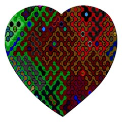Psychedelic Abstract Swirl Jigsaw Puzzle (heart)