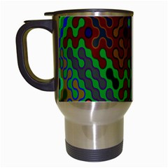 Psychedelic Abstract Swirl Travel Mugs (White)
