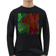 Psychedelic Abstract Swirl Long Sleeve Dark T Shirts