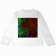 Psychedelic Abstract Swirl Kids Long Sleeve T-Shirts