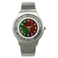 Psychedelic Abstract Swirl Stainless Steel Watch