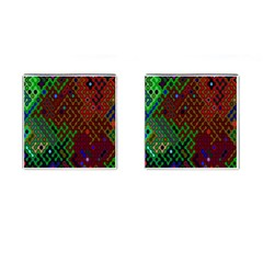 Psychedelic Abstract Swirl Cufflinks (Square)