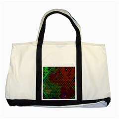Psychedelic Abstract Swirl Two Tone Tote Bag