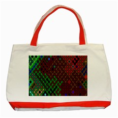 Psychedelic Abstract Swirl Classic Tote Bag (Red)