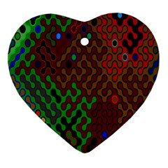 Psychedelic Abstract Swirl Heart Ornament (Two Sides)