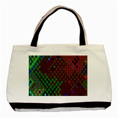 Psychedelic Abstract Swirl Basic Tote Bag (Two Sides)