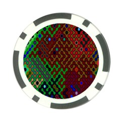 Psychedelic Abstract Swirl Poker Chip Card Guard