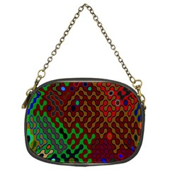 Psychedelic Abstract Swirl Chain Purses (Two Sides)