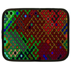 Psychedelic Abstract Swirl Netbook Case (XL)