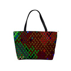 Psychedelic Abstract Swirl Shoulder Handbags