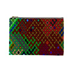 Psychedelic Abstract Swirl Cosmetic Bag (Large)