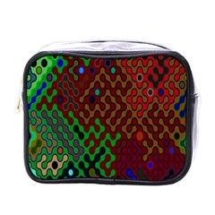 Psychedelic Abstract Swirl Mini Toiletries Bags