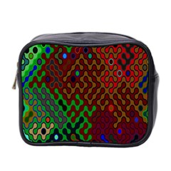 Psychedelic Abstract Swirl Mini Toiletries Bag 2-Side