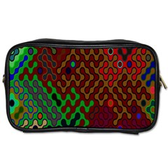 Psychedelic Abstract Swirl Toiletries Bags