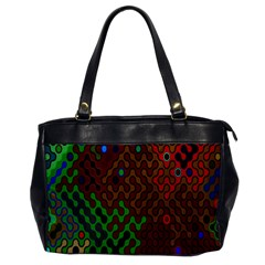 Psychedelic Abstract Swirl Office Handbags