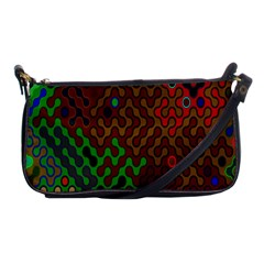 Psychedelic Abstract Swirl Shoulder Clutch Bags
