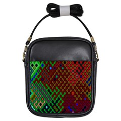 Psychedelic Abstract Swirl Girls Sling Bags