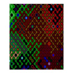 Psychedelic Abstract Swirl Shower Curtain 60  x 72  (Medium)