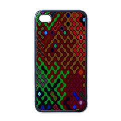 Psychedelic Abstract Swirl Apple iPhone 4 Case (Black)
